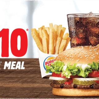 Burger King 2 for $10 Whopper Meal