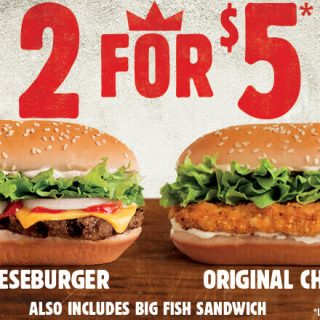 Burger King 2 for $5