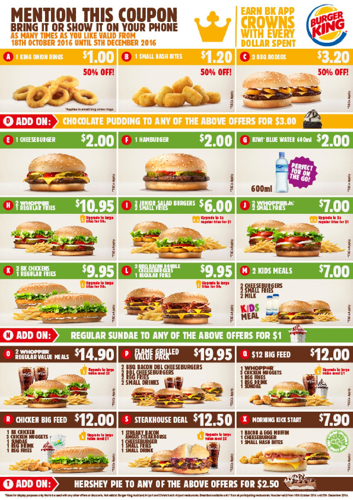 burger king promotions coupons