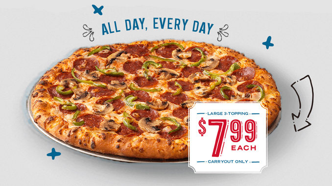 dominos large pizza 7.99 coupon