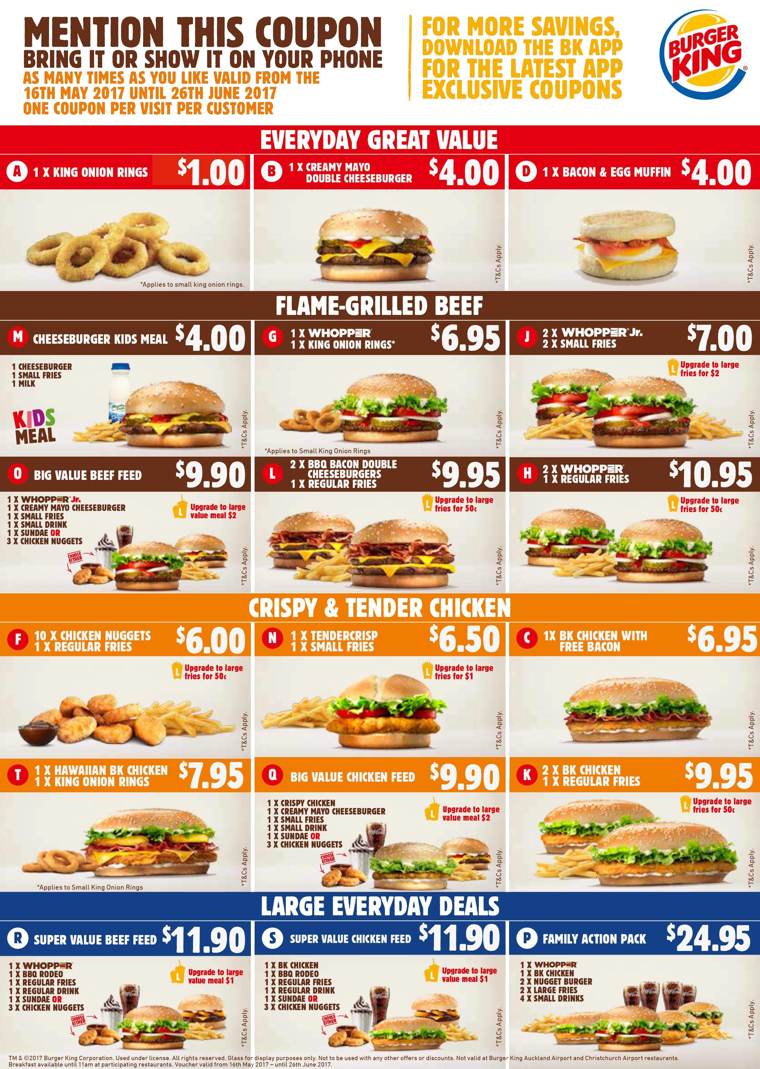 graphic relating to Bk Printable Application named Burger king coupon nz / Knight coupon codes