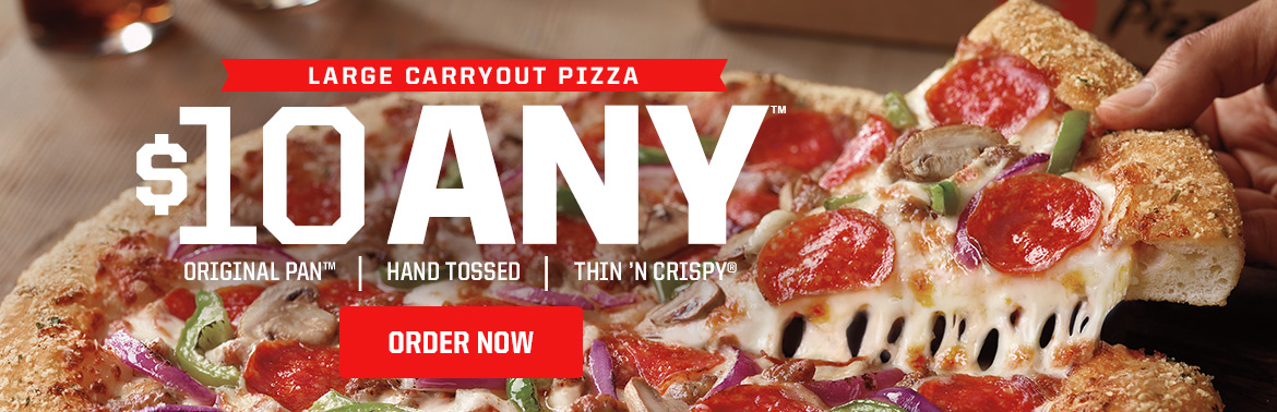 Deal Pizza Hut 10 Any Pizza Carryout Cheap Feeds