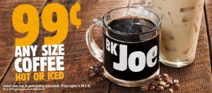 BK 99c Coffee
